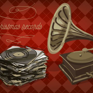 Free vector Free Christmas Vinyl Records Vector Background #22616