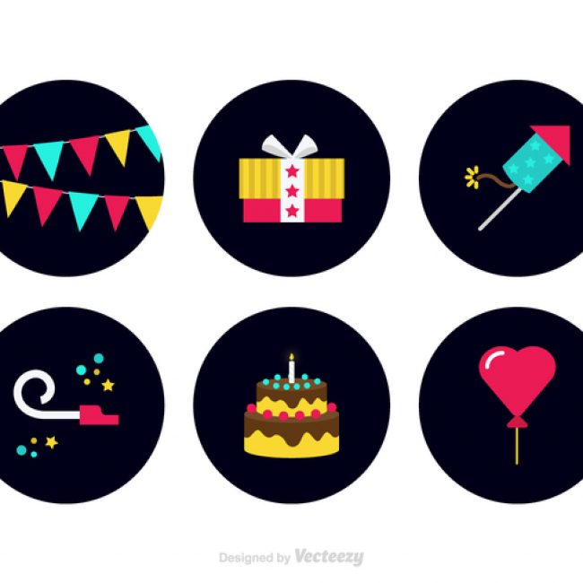 Free vector Free Colorful Party Favors Vector Icons #23222