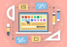 Free vector Free Flat Creative Process Vector Background #19995