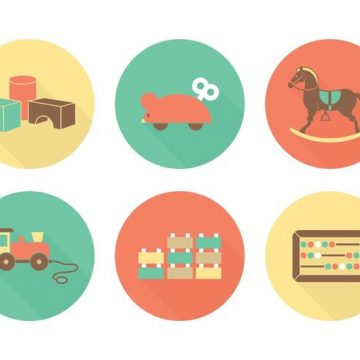 Free vector Free Flat Toys Vector Icons #21373