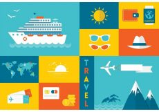 Free vector Free Flat Travel Vector Icons #21579