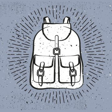 Free vector Free Hand Drawn Travel Bag Vector Background #22792