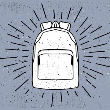 Free vector Free Hand Drawn Travel Bag Vector Background #22790