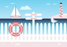 Free vector Free Hello Summer Vector Background #21571