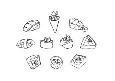 Free vector Free Japanese Food sketch Icon Vector #19656