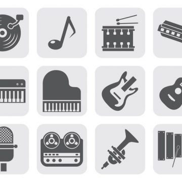 Free vector Free Music Instrument Equipment Icons Vector #19185