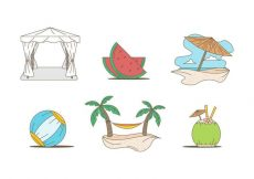 Free vector Free Outstanding Beach Holiday Vectors #20720