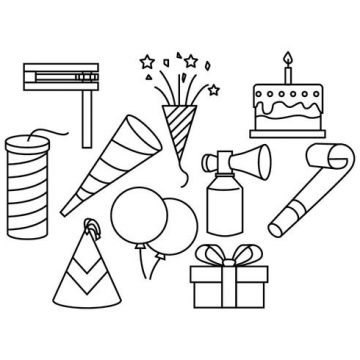 Free vector Free Party Line Icon Vector #23291