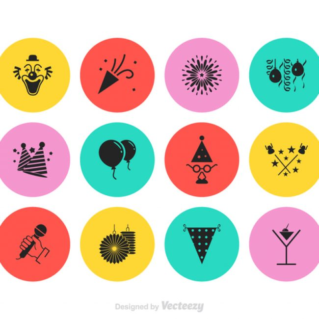 Free vector Free Party Vector Icon Set #23232