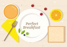 Free vector Free Perfect Breakfast Vector Illustration #19386