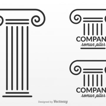 Free vector Free Roman Pillar Logo Design Vector #21241