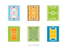 Free vector Free Sport Field Vector Icons #23152