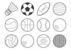 Free vector Free Sports Ball Icon Vector #23066