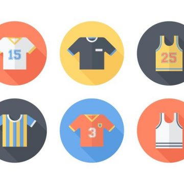 Free vector Free Sports Jersey Vector Icons #23156