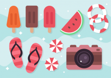 Free vector Free Summer Holiday Elements #20634
