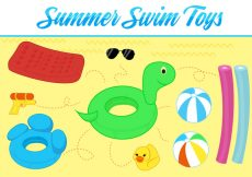 Free vector Free Summer Toys Vector Background #20734