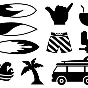 Free vector Free Surfing Icons Vector #21467