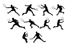 Free vector Free Tennis Silhouettes Vector #20244