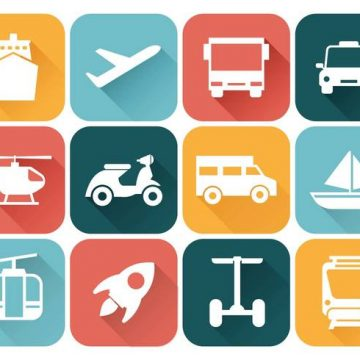 Free vector Free Transportation Icons Vector #21411