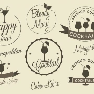 Free vector Free Vector Cocktail Labels #22842