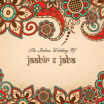 Free vector Free Vector Colorful Indian Wedding Card #20514