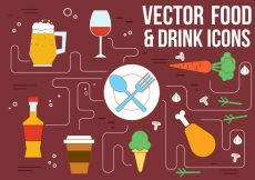 Free vector Free Vector Drink and Food Icons #21757