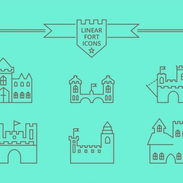 Free vector Free Vector Linear Fort Icons #21124