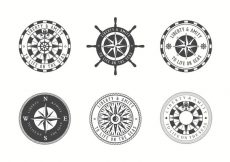 Free vector Free Vector Nautical Chart Badges #21667