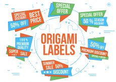 Free vector Free Vector Origami Labels #19736