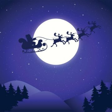 Free vector Free Vector Santa's Sleigh Background #21048