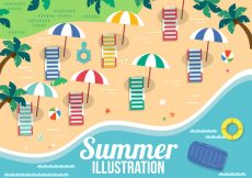 Free vector Free Vector Summer Elements #20742