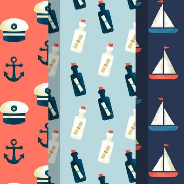 Free vector Free Vintage Summer Holiday Patterns #21493