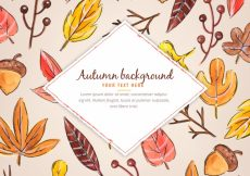 Free vector Fun autumnal composition with watercolor style #22625