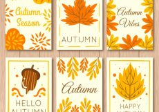 Free vector Fun set of autumnla card #22711
