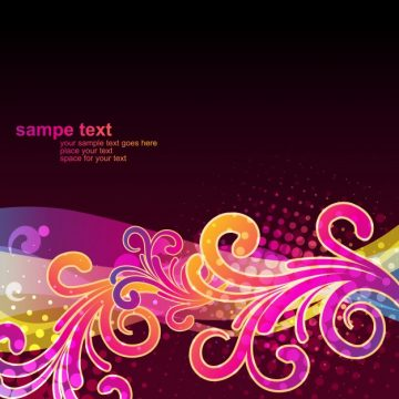 Free vector Glossy floral background design #21306