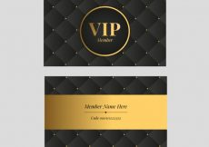 Free vector Golden set of classic vip cards #19234