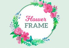 Free vector Green floral frame #21560
