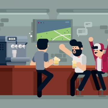 Free vector Guys at a Bar Illustration #22990