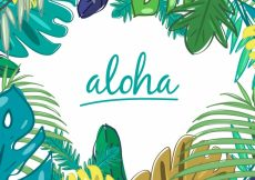 Free vector Hand drawn palm leaves background #19703