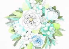 Free vector Hand painted flower bouquet #21352