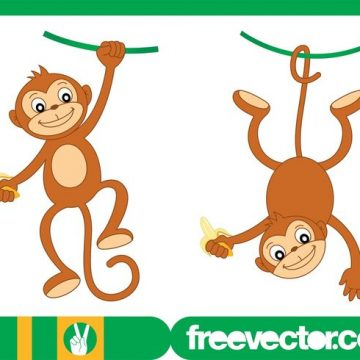 Free vector Happy Monkey Characters #22268