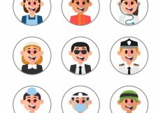Free vector Happy set of smiley avatars #22080