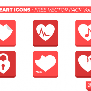 Free vector Heart Icons Free Vector Pack Vol. 6 #19179