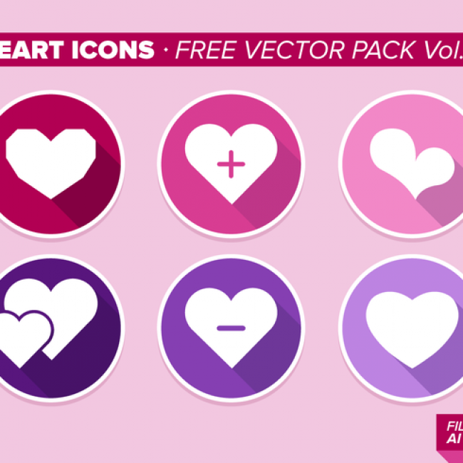Free vector Heart Icons Free Vector Pack Vol. 9 #19181