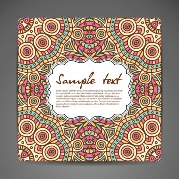 Free vector Invitation card with lace ornament hand draw background #20010