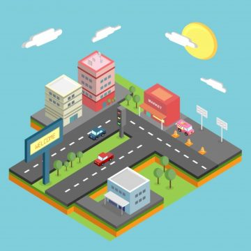 Free vector Isometric city design #21890