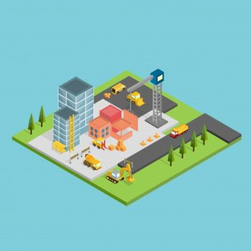 Free vector Isometric construction design #21884