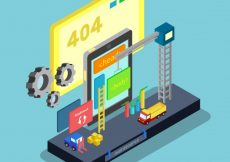 Free vector Isometric error 404 design #21892