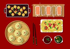 Free vector Japanese Dim Sum Free Vector #20278