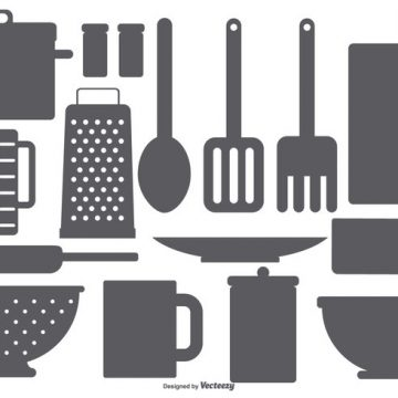 Free vector Kitchen Element Vector Shapes #19036